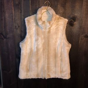 Kristen Blake Faux Fur Reversible Vest